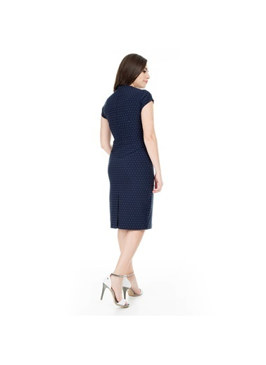 Modailgi Elbise Lacivert